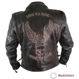 """Xelement. Косуха """"Орел"""". Воловья кожа Сowhide Leather. США"""